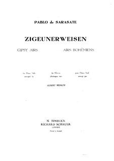 Цыганские напевы, Op.20: Переложение для фортепиано by Пабло де Сарасате