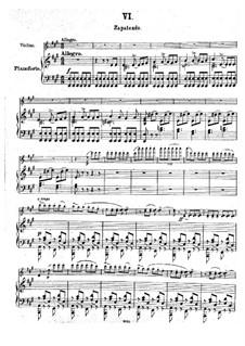 Zapateado, Op.23: Для скрипки и фортепиано by Пабло де Сарасате