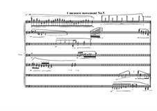 1 measure 'Etudes to the nocturnes' for piano: Movement No.5, MVWV 587 by Maurice Verheul
