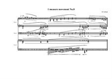 1 measure 'Etudes to the nocturnes' for piano: Movement No.8, MVWV 590 by Maurice Verheul