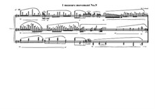 1 measure 'Etudes to the nocturnes' for piano: Movement No.9, MVWV 591 by Maurice Verheul
