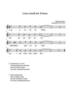 Тихо падает снег: For guitar by Eduard Ebel