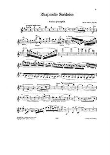 Rhapsodie suédoise, Op.59: Сольная партия by Эмиль Соре