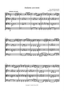 Шесть детских пьес, Op.72: Piece No.4, for string quartet or ensemble by Феликс Мендельсон-Бартольди