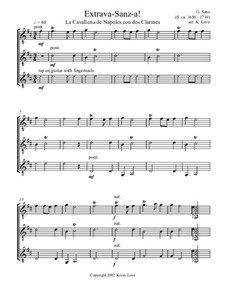 Extrava-Sanz-a!: For guitar trio - score and parts by Гаспар Санц