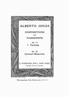 Toccata, Op.14: Токката by Alberto Jonás