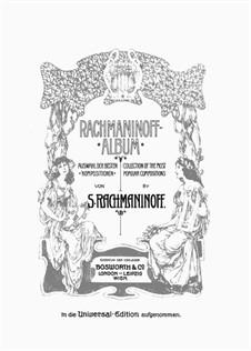 Фантастические пьесы, Op.3: No.5 Sérénade by Сергей Рахманинов