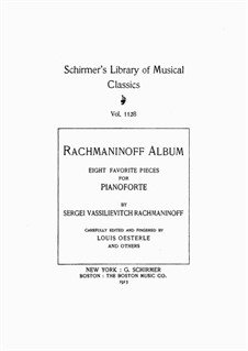 Семь салонных пьес, Op.10: No.3 Barcarolle by Сергей Рахманинов