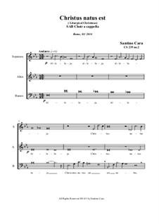 Christus natus est (Christmas) SAB Choir a cappella, CS239 No.2: Christus natus est (Christmas) SAB Choir a cappella by Santino Cara