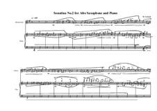 3 Sonatina's for Alto saxophone and piano: Сонатина No.2, MVWV 541 by Maurice Verheul