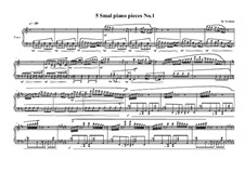 5 small pieces for piano: Пьеса No.1, MVWV 390 by Maurice Verheul