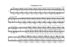 5 small pieces for piano: Пьеса No.3, MVWV 392 by Maurice Verheul