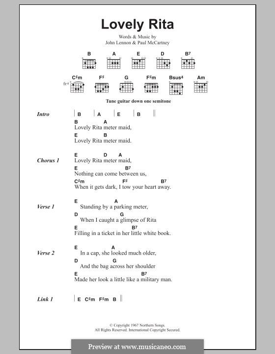 Lovely Rita (The Beatles): Текст и аккорды by John Lennon, Paul McCartney