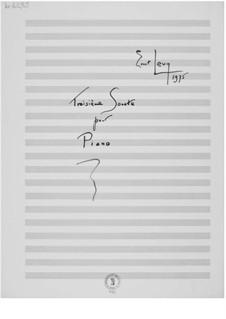 Соната для фортепиано No.3: Соната для фортепиано No.3 by Эрнст Леви