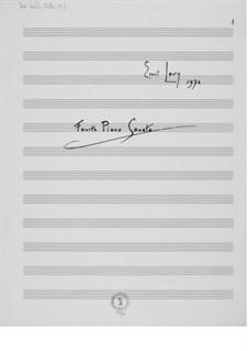 Соната для фортепиано No.4: Соната для фортепиано No.4 by Эрнст Леви