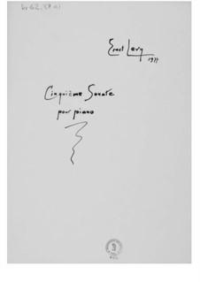 Соната для фортепиано No.5: Соната для фортепиано No.5 by Эрнст Леви