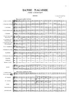 Пляска смерти, Op.40: Партитура by Камиль Сен-Санс