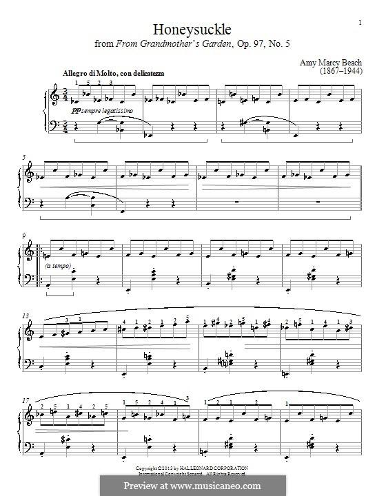 Honeysuckle: Для фортепиано by Эми Мэрси Бич