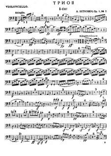 Три фортепианных трио, Op.1: Трио No.2 – партия виолончели by Людвиг ван Бетховен