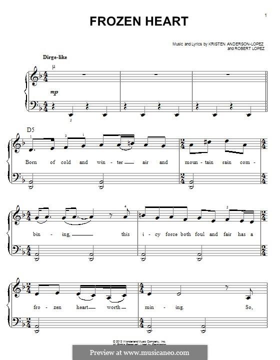 Frozen Heart (from Frozen: The Broadway Musical): Для фортепиано by Robert Lopez, Kristen Anderson-Lopez