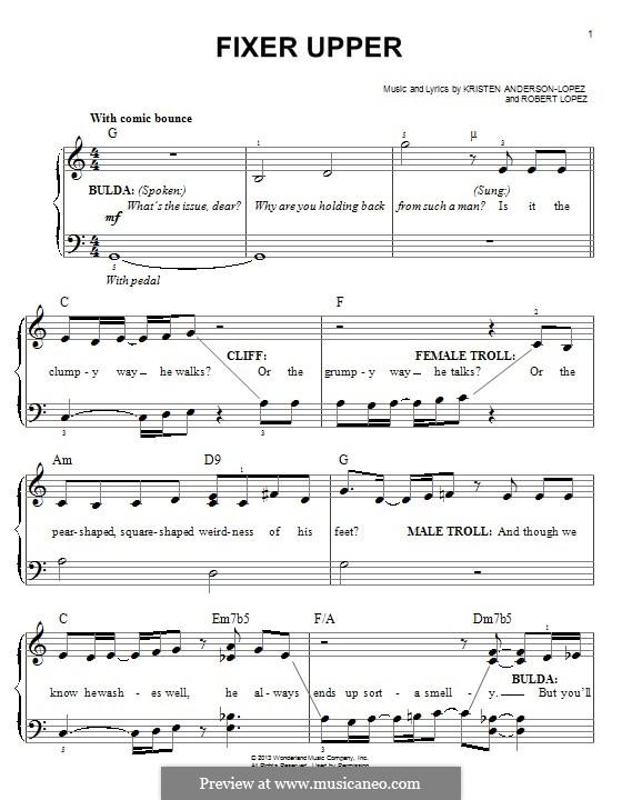 Fixer Upper: Для фортепиано by Robert Lopez, Kristen Anderson-Lopez