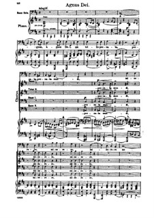 Missa Solemnis, Op.123: Agnus Dei, piano score with vocal parts by Людвиг ван Бетховен