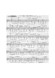 Ария: Версия для гитары by Иоганн Себастьян Бах