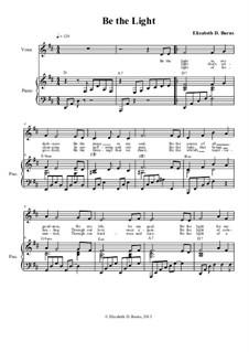 Be the Light: Guitar-friendly version in D Major by Elizabeth Burns