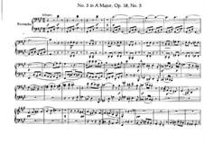 Квартет No.5 ля мажор: Для фортепиано в четыре руки – партии by Людвиг ван Бетховен