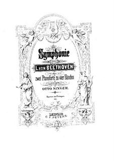 Вся симфония: Версия для двух фортепиано в четыре руки by Людвиг ван Бетховен