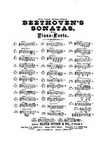 Соната для фортепиано No.12 ля-бемоль мажор, Op.26: Для одного исполнителя (под редакцией З. Леберта) by Людвиг ван Бетховен