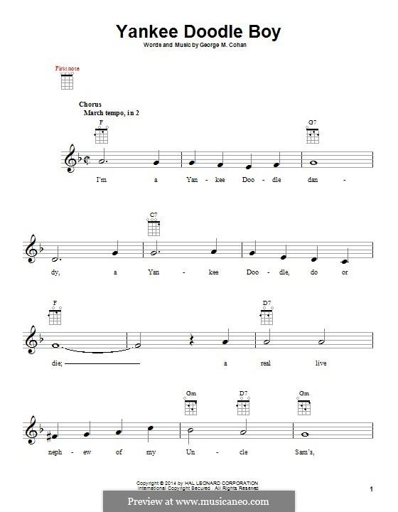 Yankee Doodle Boy: Для укулеле by George Michael Cohan