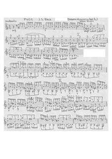 Фуга до мажор, BWV 953: Для гитары by Иоганн Себастьян Бах