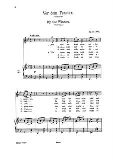 Романсы и песни, Op.14: No.1 Vor dem Fenster (At the Window) by Иоганнес Брамс