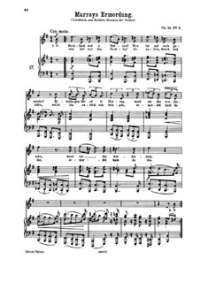 Романсы и песни, Op.14: No.3 Murrays Ermordung (Murray's Murder) by Иоганнес Брамс