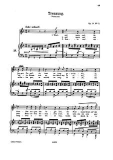 Романсы и песни, Op.14: No.5 Trennung (Separation) by Иоганнес Брамс