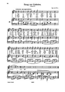 Романсы и песни, Op.14: No.6 Gang zur Liebsten (Visit to My Beloved) by Иоганнес Брамс