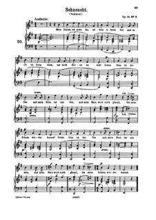 Романсы и песни, Op.14: No.8 Sehnsucht (Longing) by Иоганнес Брамс
