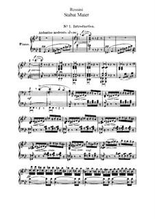 Стабат Матер: Для голоса и фортепиано by Джоаккино Россини
