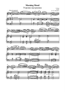 Сюита No.1. Утро, Op.46 No.1: Для саксофона альта и фортепиано by Эдвард Григ