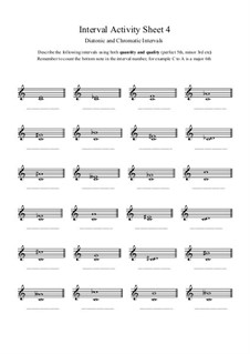 Interval Activity: Sheet 4 (Naming Intervals) by Yvonne Johnson