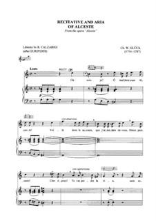 Альцеста, Wq.44: Recitativo ed Aria di Alceste by Кристоф Виллибальд Глюк