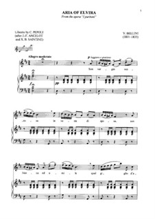 Пуритане: Son vergin vezzosa, for soprano and piano by Винченцо Беллини