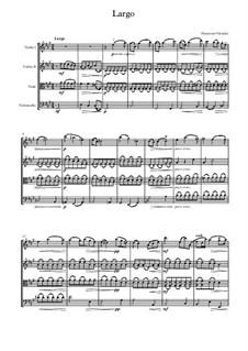 Ларго для скрипки и фортепиано фа-диез минор: Версия для струнного квартета by Francesco Maria Veracini