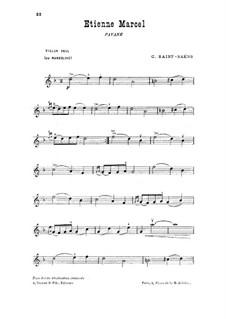 Этьен Марсель: For violin (or mandolin) by Камиль Сен-Санс