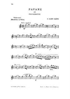 Прозерпина: Pavane, for violin (or flute, or mandolin) by Камиль Сен-Санс