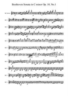Соната для фортепиано No.5, Op.10 No.1: Для кларнета by Людвиг ван Бетховен
