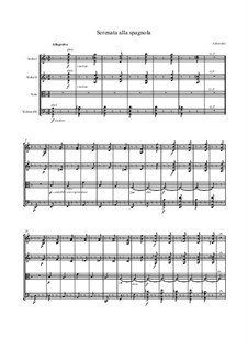 Serenata alla spagnola: Партитура, Партии by Александр Бородин