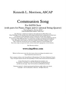 Communion Song (from God's Love: A Cantata for Holy Week and Easter): Communion Song (from God's Love: A Cantata for Holy Week and Easter) by Ken Morrison