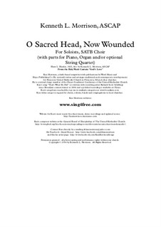 O Sacred Head Now Wounded: For choir, strings and piano (or organ) by Ханс Лео Хасслер